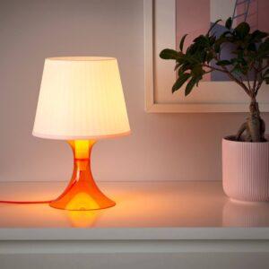 ЛАМПАН Лампа настольная, оранжевый/белый 29 см - 004.710.81
