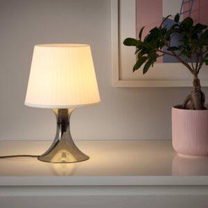 ЛАМПАН Лампа настольная, темно-серый/белый 29 см - 704.840.80