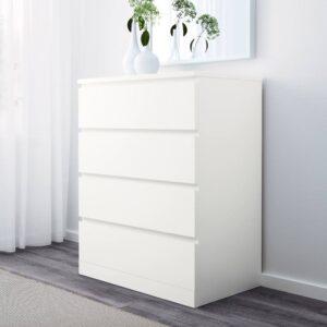 МАЛЬМ Комод с 4 ящиками, белый 80x100 см - 104.035.72