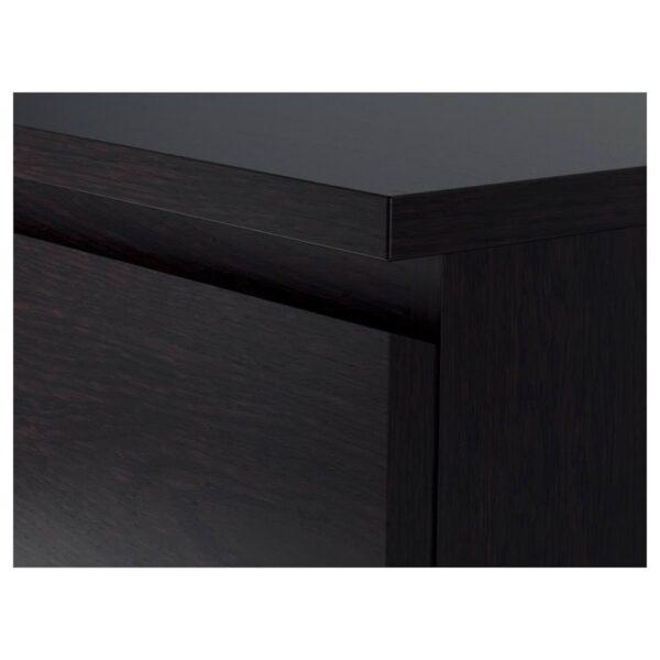 МАЛЬМ Комод с 4 ящиками, черно-коричневый 80x100 см - 104.035.67