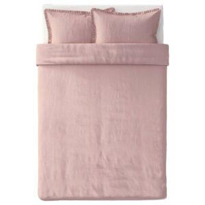КРАНСКРАГЕ Пододеяльник и 2 наволочки, светло-розовый 200x200/50x70 см - 604.823.26