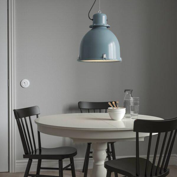 СВАРТНОРА Подвесной светильник, серо-бирюзовый 38 см - 104.865.29