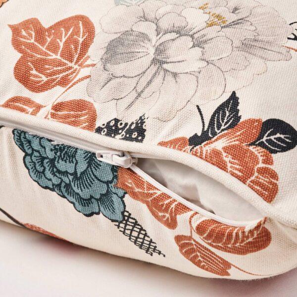 ТРОЛЛМАЛ Чехол на подушку, неокрашенный/цветочный орнамент 50x50 см - 304.855.76