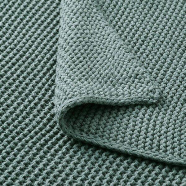 ИГАБРИТТА Плед, серо-бирюзовый 130x170 см - 804.895.91