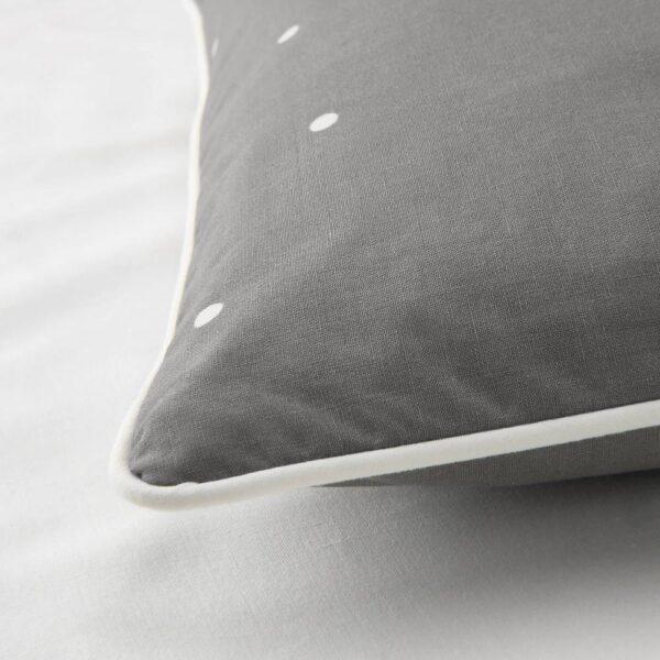 ЛЕНАСТ Пододеяльник, наволочка д/кроватки, орнамент «точки» 110x125/35x55 см - 204.889.38