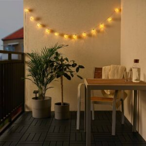 СОЛВИДЕН Гирлянда, 12 светодиодов, оранжевый синий/для сада на солнечной батарее - 204.870.24