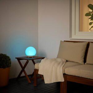 СОЛВИДЕН Светильник на солнечной батарее, для сада/шаровидный белый - 604.845.56