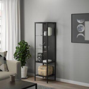 РУДСТА Шкаф-витрина, антрацит 42x37x155 см - 004.501.30