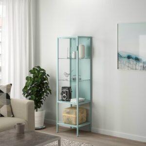 РУДСТА Шкаф-витрина, светлая бирюза 42x37x155 см - 704.501.36
