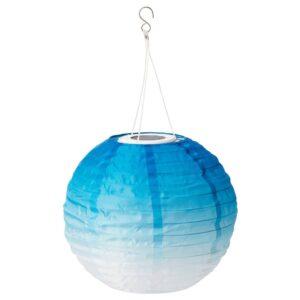 СОЛВИДЕН Подвесная светодиодная лампа, для сада/шаровидный синеватый оттенок 30 см - 604.873.57