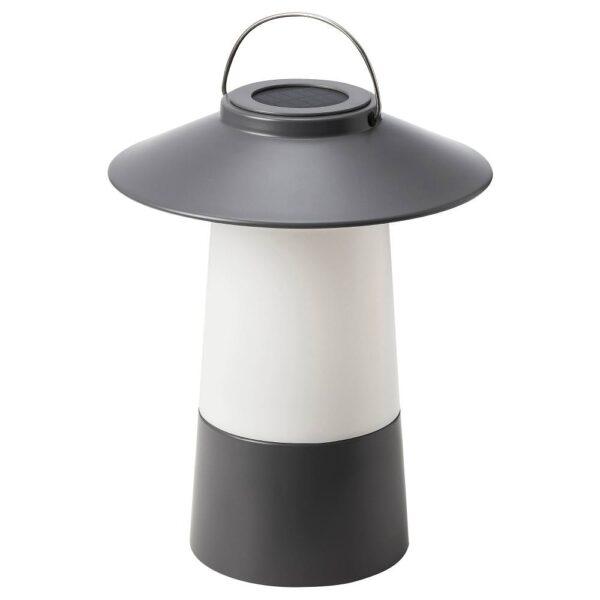 СОЛВИДЕН Светодиодный фонарь/солнечн батарея, темно-серый - 804.869.55