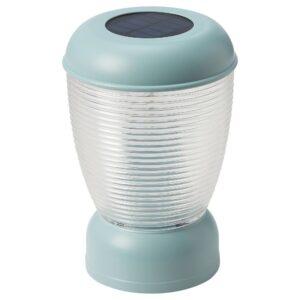 СОЛВИДЕН Настольн светодиодн лампа/солн бат, синий - 704.869.70