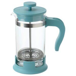 УПХЕТТА Кофе-пресс/заварочный чайник, стекло/темная бирюза 0.4 л - 804.810.00
