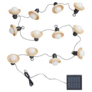 СОЛВИДЕН Гирлянда, 12 светодиодов, для сада на солнечной батарее/мини-фонарь бежевый - 204.870.38