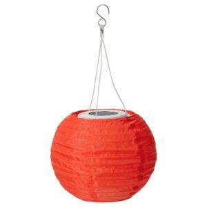 СОЛВИДЕН Подвесная светодиодная лампа, для сада/шаровидный оранжевый 22 см - 404.869.00