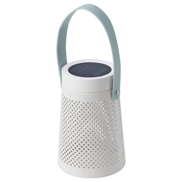 СОЛВИДЕН Настольн светодиодн лампа/солн бат, конусообразный белый 15 см - 804.869.60