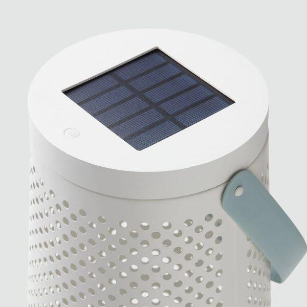 СОЛВИДЕН Напольн светодиод светильник/слн бт, конусообразный белый 45 см - 504.869.85