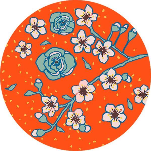 ХОПФОГА Ароматическая свеча в стакане, Специи и цветы/серый 9.5 см - 604.825.81