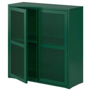 ИВАР Шкаф с дверями, зеленый сетка 80x83 см - 304.839.83