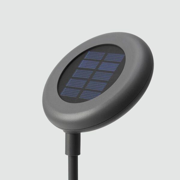 СОЛВИДЕН Подсветка н/солн батарее,светодиод, для сада/серый - 504.869.90