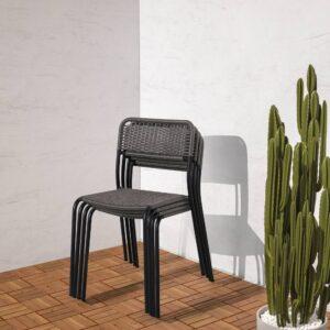 ВИХОЛЬМЕН Садовый стул, темно-серый - 904.633.07