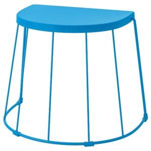 ТРАНАРЁ Табурет/приставной стол,д/дома/сада, синий 56x41x43 см - 404.598.26