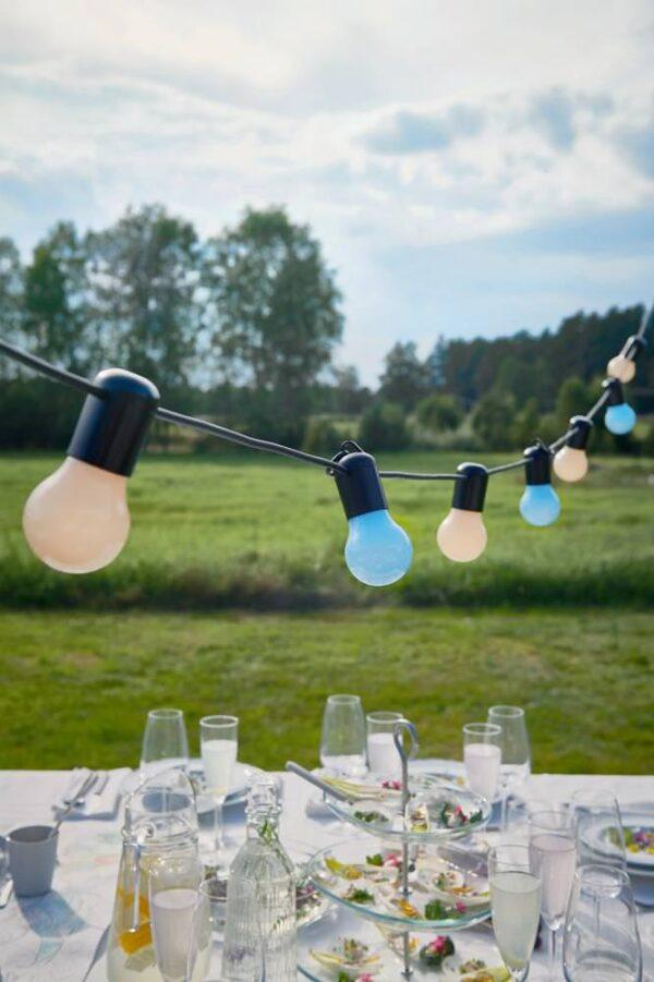 СОЛВИДЕН Гирлянда, 12 светодиодов, для сада/разноцветный - 904.870.73