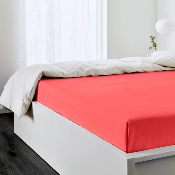 УЛЛЬВИДЕ Простыня, красный/оранжевый 240x260 см - 405.007.03