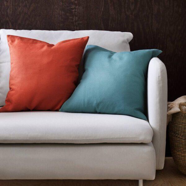 ЭББАТИЛЬДА Чехол на подушку, серо-бирюзовый 50x50 см - 604.930.18