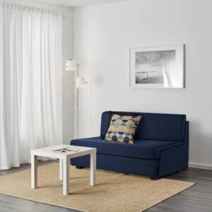 СВЭНСТА 2-местный диван-кровать, темно-синий - 204.461.61