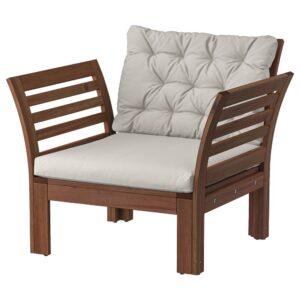 ЭПЛАРО Садовое кресло, коричневая морилка/Куддарна серый - 794.139.17