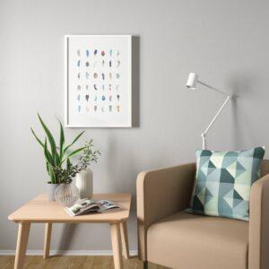 БИЛЬД Постер, Разноцветные перышки 50x70 см - 304.914.50