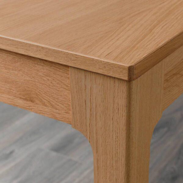 ЭКЕДАЛЕН Стол и 2 стула, дуб/Рамна светло-серый 80/120 см - 292.394.40