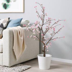 ФЕЙКА Искусственное растение в горшке, д/дома/улицы/цветы вишни розовый 19 см - 004.761.11