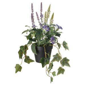 ФЕЙКА Искусственное растение в горшке, д/дома/улицы/оформление синий/белый 12 см - 704.761.60