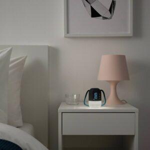 ФНУРРА Будильник с подсветкой, серый 10 см - 304.432.56