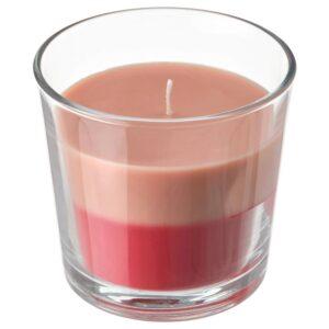 ФОРТГО Ароматическая свеча в стакане, Свежая клубника/красно-розовый 9 см - 504.825.72