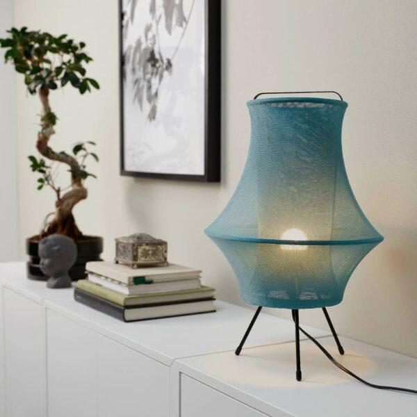 ФИКСНЭС Лампа настольная, бирюзовый 44 см - 504.640.16