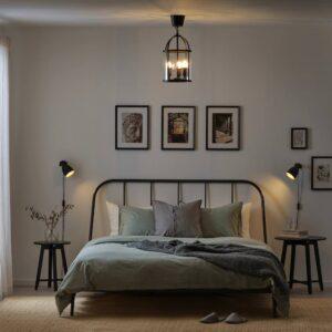 ГАЛИОН Подвесной светильник, черный/прозрачный стекло 25 см - 004.509.36
