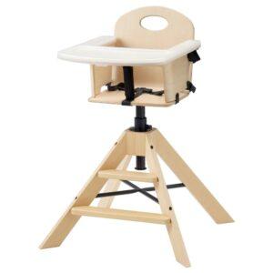 ГРОВАЛЬ Детский/высокий стул+столешницей, береза - 394.185.25