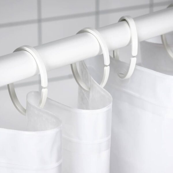 ХАССШЁН Кольца для шторы в ванную, белый - 604.660.10