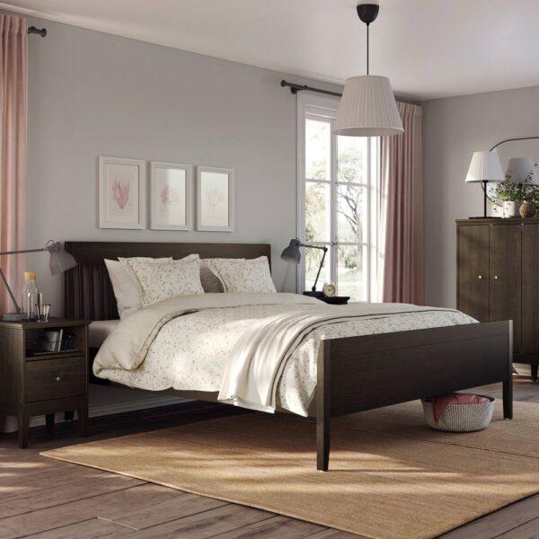 ИДАНЭС Каркас кровати, темно-коричневый/Леирсунд 180x200 см - 694.065.02