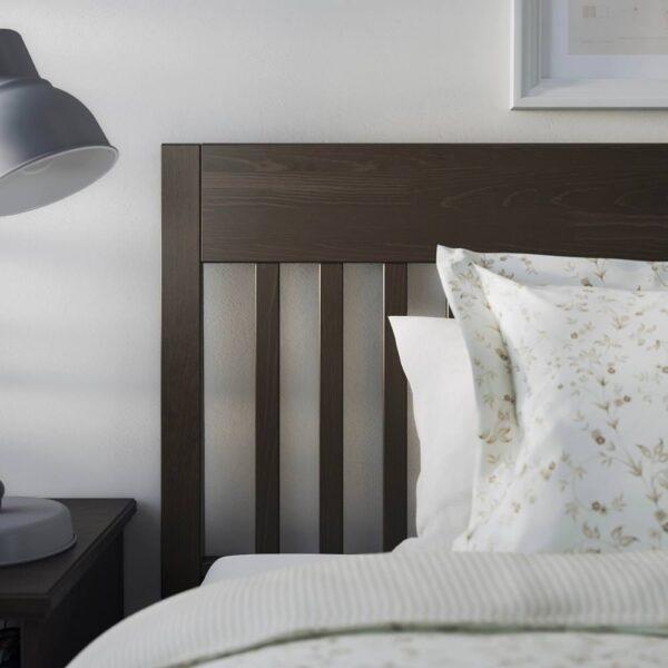 ИДАНЭС Каркас кровати, темно-коричневый/Лонсет 160x200 см - 894.065.01