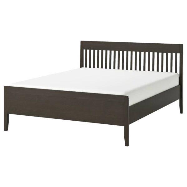 ИДАНЭС Каркас кровати, темно-коричневый/Лурой 180x200 см - 494.065.03