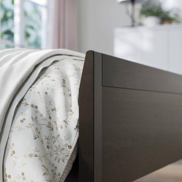 ИДАНЭС Каркас кровати, темно-коричневый/Лурой 160x200 см - 594.064.99