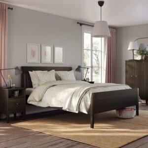 ИДАНЭС Каркас кровати, темно-коричневый морилка 160x200 см - 604.588.97