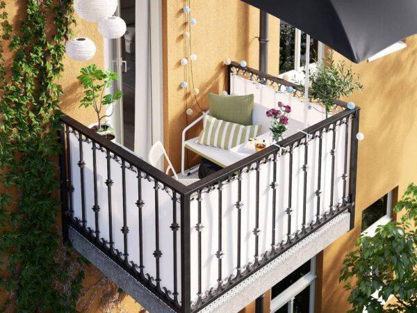ИНГМАРСЭ 2-местный диван, для дома/сада, белый зеленый/бежевый 118x69x69 см - 304.632.92