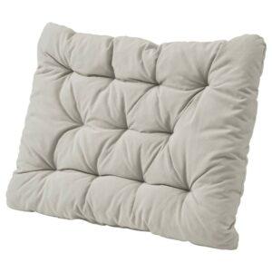 КУДДАРНА Подушка д/садовой мебели, серый 62x44 см - 604.110.65