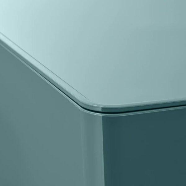 КУГГИС Контейнер с крышкой, бирюзовый 18x26x8 см - 604.895.11