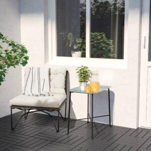 КУНГСХАТТ Сервировочный столик для дома/улицы, темно-серый/серый 56x36 см - 704.626.91